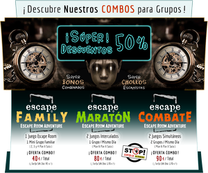 Super Ofertas Combos Escape Room Toledo